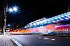 Bus Stop (Bruno Da Silva) Tags: street brazil urban lightpainting color night nightshot sopaulo busstop campinas rmc lighttrail longexposition brunosilva