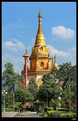 DP1U7135 (c0466art) Tags: trip travel blue light sky cloud tower water beautiful festival canon temple golden scenery bright buddha chinese spill 2016 1dx c0466art