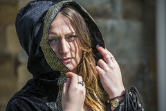 20160423_178 - Catherine (David-Hall) Tags: portrait woman girl catherine hood canon5d cloak tamron 2016 whitbygoths