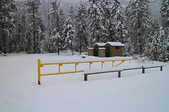 The Facilities (tonywild241) Tags: road winter canada tree nature landscape countryside highway gate foliage restarea mostviewed kootenayboundary bchighway33 westbridgebc