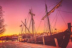 4/366 - Sunset on the Pinta (CarmenSisson) Tags: sunset usa history water boat ship alabama replica historical caravel pinta gulfcoast bayoulabatre
