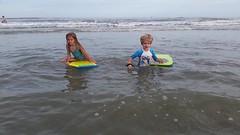 The Kids In The Ocean (Joe Shlabotnik) Tags: cameraphone ocean beach video florida violet pontevedra everett boogieboard 2015 micklersbeach galaxys5 december2015