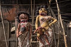 STATUES POUR DIWALI (pierre.arnoldi) Tags: de photo statues fte diwali rue kolkata inde