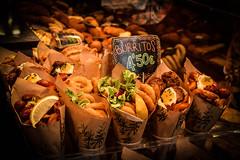 Burritos (cesarioapc) Tags: barcelona lemon egg sausage lettuce rings squid burritos sal boqueria ovo salsicha calamares limo alface