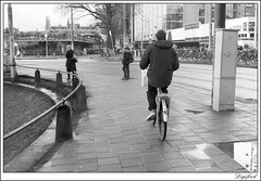 Still waiting. (Digifred. Thx for > 3 000 000 views.) Tags: street city blackandwhite holland netherlands amsterdam blackwhite iamsterdam nederland streetphotography canals grachten straat 2015 digifred