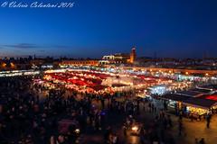 Jemaa El Fna Square - Marrakech, Morocco (ValeCrio) Tags: travel canon morocco marocco marrakech bluehour viaggio reportage jemaaelfna orablu jemaaelfnasquare piazzajemaaelfna valeriocolantoni