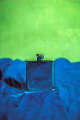 Green and blue (allejandrine) Tags: blue reflection green stillife fleck
