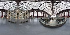 Antwerpen Central Train Station (HermanDesmet.be) Tags: panorama station train belgium belgie central railway 360 antwerp interactive vr flanders vlaanderen equirectangular 360vr