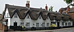 [39428] Repton : 1-5 Willington Road (Budby) Tags: house blackwhite 17thcentury derbyshire cottage thatched timbered repton