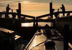 Piero Lock  River Nene (lovestruck.) Tags: challengeyouwinner boatlockwaterway sunsetneneriver