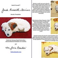 PDF en espaol: JACK RUSSELL Terrier Tutorial de bordado con cuentas del prendedor o pendiente de perro (The Lone Beader) Tags: dogs amazon handmade embroidery sewing jewelry perro spanish pdf etsy beading beaded jackrussellterrier beadwork espaol bordados beadembroidery dogjewelry
