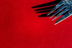 Fork on Red (Explore 2-08-2016) (Mi Bob) Tags: minimalism macromondays vibrantminimalism