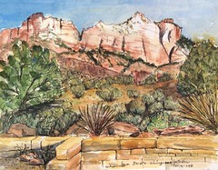 160128 Looking out Barb's Living room window (eleanorsegal) Tags: landscape view zion