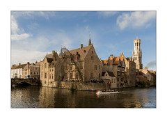 In Bruges (JRTurnerPhotography) Tags: city travel bridge winter vacation urban sun sunlight holiday tower tourism water architecture canon buildings river print photography boat canal photo cityscape photographer belgium image brugge picture tourist unesco worldheritagesite photograph bruges flemish belfort dijver westflanders citybreak morningsunlight canon24105mmf4l jaketurner belfryofbruges canon5dmarkiii worldheritagesiteofunesco jrturnerphotography