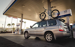 Filling up (Carter_Wilson) Tags: california road trip university state handmade cal frame subaru builders poly polytechnic nahbs roadtonahbs nahbs2016