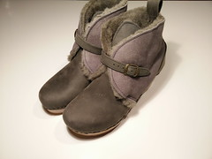 No. 6 One-Strap Shearling Clog with Wedge Heel (actionhero) Tags: clogs wedge shearling no6