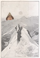 the sensation of being watched in the mountains (kurberry) Tags: snow mountains collage landscape peaks pointyhat cutpaste snowylandscape cutandpaste vintageephemera