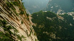 More than massive drop at Mount Hua (Huashan) (Brice Retailleau / Quintessence de Voisinage) Tags: china above travel trees panorama cliff mountain mountains nature composition montagne landscape scenery rocks asia raw break view outdoor earth perspective scenic vertigo holy valley vista gorge peaks chine overview huashan