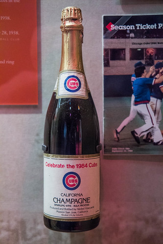 celebrate the 1984 cubs champagne