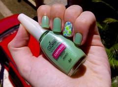 Desafio das sries #2 (Rassa S. (:) Tags: blue verde green branco azul nails nailpolish unhas nailart esmalte colorama nyce cremoso beautycolor desafiodassries