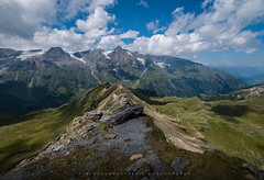 Mountain Meadow (Tim Allendrfer) Tags: blue summer sky panorama mountains alps green nature grass rock stone clouds landscape austria outdoor meadow