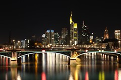 Frankfurt Skyline (patrickries85) Tags: longexposure panorama skyline canon landscape eos exposure frankfurt main mainhatten nachtaufnahme hanau nightexposure ffm langzeitbelichtung
