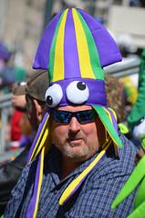 A stranger in the Mardi Gras parade crowd (Monceau) Tags: colorful parade mardigras kreweofiris