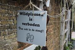 No peeing in the alley!! (Davydutchy) Tags: holland pee netherlands sign alley nederland schild paysbas friesland peeing bord niederlande bordje steeg frysln frisia langweer uithangbord langwar boerd steech thingboerd boerdsje