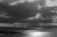 A Speck On The Ocean (Visible Landscape) Tags: uk sky bw clouds mono scotland boat isleofskye visiblelandscape
