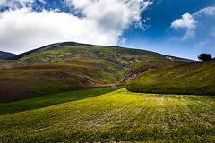 ALONE (elisanobile) Tags: life italy clouds canon landscape living italia nuvole alone hills solo camper umbria colline castelluccio solitudine castellucciodinorcia canon7dmarkii