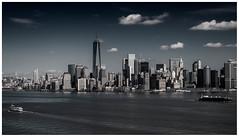 "Downtown Manhattan Skyline (mdavies149) Tags: blackandwhite monochrome nikon manhattan eastriver newyorkskyline manhattanskyline hudsonriver d600 greatphotographers michaeldavies newyorkbuildings ""nikonflickraward"" vividstriking"