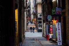 Jaume I (Gbor Ksz) Tags: barcelona street city canon spain shops jaume