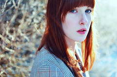 Like no one (saralinnpersson) Tags: winter portrait sun selfportrait cold female backlight outdoors ginger outdoor young pale redhead teen