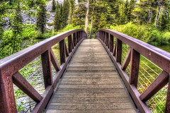 Bridge to Paradise (joe Lach) Tags: california wood bridge trees mountain forest mammoth twinlakes mammothlakes sierranevada pinetrees spanning inyonationalforest bridgetoparadise joelach
