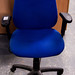 Blue swivel chair