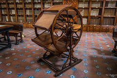 2016 - Mexico - Puebla - Palafox Library - 2 of 2 (Ted's photos - Returns Mid May) Tags: wheel bench mexico desk library books bookshelf unescoworldheritagesite unesco tiles cropped vignetting puebla floortile 2016 pueblapuebla tedsphotos memoryoftheworld unescoworldculturalcentre tedsphotosmexico palofaxlibrary