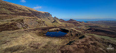 The Cuithe-Raing (Quirang), part of the Trotternish Ridge (Impact Imagz) Tags: skye pool skyline landscape scotland rocks isleofskye bluesky hills geology hillside westernisles hillwalking outerhebrides landslip quirang trotternishridge visitscotland skyeskyline cuitheraing