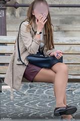 street pantyhose (captain.gbz) Tags: woman sexy girl legs pantyhose bycicle strumphose streetpantyhose
