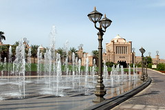 Emirates Palace_0766 (Stephen Wilcox - Jetwashphotos.com) Tags: travel water fountain lamp architecture garden photography hotel image entrance driveway abudhabi photograph dome paving waterfeature wp luxury unitedarabemirates emiratespalace lightsarchitecture luxaryhotel jetwashphotos
