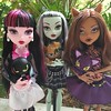 monster high! monster high! (Laila X) Tags: monster toys high wolf dolls crescent frankie monsters fabulous stein mattel count clawdeen draculaura watzit