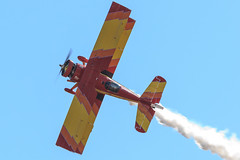 "Gene Soucy and ""Show Cat"" (Norman Graf) Tags: show cat plane airplane aircraft smoke airshow aerobatics grumman showcat genesoucy agcat n7699 g164 nx7699 2015californiacapitalairshow"