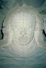 Hellraiser Mask Mold (Bart D. Frescura) Tags: color film northerncalifornia 35mm oakland mask 35mmfilm bayarea mold westcoast bdf califorina pinhead hellraiser moldmaking chiodo cenobite filmflashback bartdfrescura moldroom