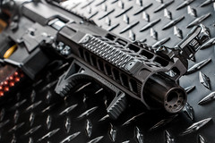 AR9 Pistol business end (S.Dobbins) Tags: circle lite 10 small rifle 8 rail solo valley pistol frame works pro quarter strike precision build slt comp kaw industries 9mm glock ar9 magpul qc10 railscales