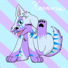 I got this super cute gift by FlamieShadowTiger ^-^ Thank you so much! (Keenora Fluffball) Tags: furry kee fursuit keenora