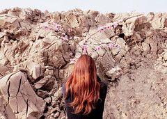 Petali e crepe (LaSandra.) Tags: flowers light red girl hair spring clay sandralazzarini