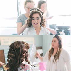 Some behind the scenes of Sharon and Genie from Lorraine's wedding!! . Photo by @tinphotography ! #hairbygenie #makeupbysharonypark #behindthescenes #gettingreadyforthewedding #hair #makeup #updo #bigsexyhair #hairaccessory #ulzzang #koreanm (eab12) Tags: from wedding beautiful by hair bride photo makeup some sharon behind behindthescenes scenes genie lorraines updo  hairaccessory bridalmakeup bigsexyhair gettingreadyforthewedding ulzzang koreanmakeup instagram ifttt rolowed tinphotography makeupbysharonypark hairbygenie