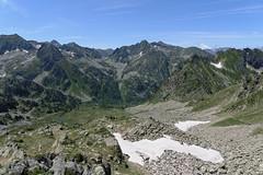 Widok w kierunku przełęczy Portella Besines