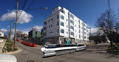 Stretch Limo (Voxphoto) Tags: panorama construction annarbor condos glitch development aprilfools iphone kingsleyashley