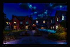 Thomas Kinkade Tribute (Kevin From Manchester) Tags: architecture night lights hotel lancashire 1855mm hdr thomaskinkade kevinwalker canon1100d