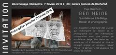 Exposition de Ben Heine au Centre Culturel des Roches - Rochefort (Ben Heine) Tags: art belgium belgique exhibition exposition prints vernissage rochefort benheine pencilvscamera centrecultureldesroches anneboland surrealismealabelge